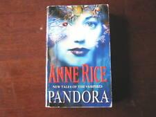 Anne Rice Pandora pb new tales of vampires