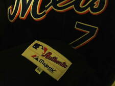 JOSE REYES SIGNED NY METS AUTHENTIC JERSEY MAJESTIC BLACK