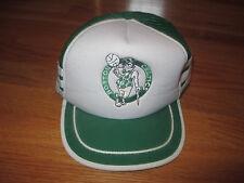 Vintage R.O.C. BOSTON CELTICS (Adjustable Snap Back) Cap w/ Leprechaun WHT & GRN