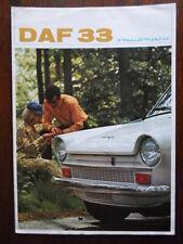 DAF 33 Variomatic orig 1968 UK Market sales brochure