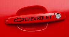 2 CHEVROLET, CAMARO, Pickup, Door Handle Decals stickers emblem logos Black