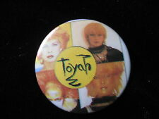 Toyah Willcox-Multi Faces-Punk-Pin Badge Button-80's Vintage-Rare