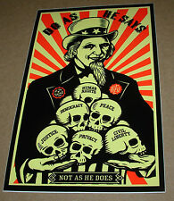"""SHEPARD FAIREY Obey Giant Sticker 3.75 X 6"""" DO AS HE SAYS from poster print"""