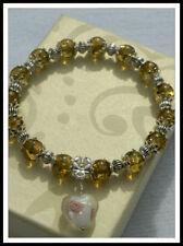 Unbranded Stone Tibetan Silver Beaded Fashion Bracelets