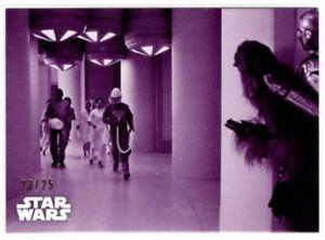Star Wars ESB Black & White Purple Parallel card #134 Defending The Escape 23/25