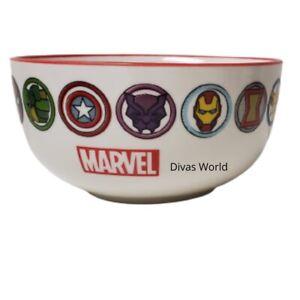 Marvel Character Printed Bowl Ceramic Kids Breakfast Cereal Bowl Brand New