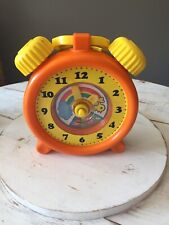 Works! Unimax 1982 Wind Up Musical Toy Clock Music Mary Had A Little Lamb Hong K