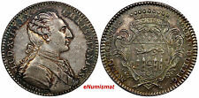 FRANCE ND Token Louis XVI Christianiss Munificentia Silver 30,9 mm RAINBOW TONED