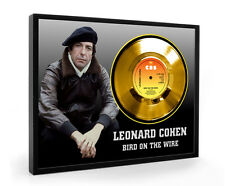 Leonard Cohen Bird On The Wire Framed Gold Disc Display ( C1 )