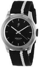 Johan Eric Men's JE1400-04-007 Naestved Young White Stripe Canvas Strap Watch