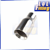 """New Universal Stainless Steel Oval Exhaust Muffler Tip 3.5"""" Outlet 7"""" Length"""