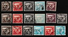 Palestine Old Stamps Different High Values Sites Used
