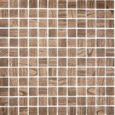 Mosaik Glas Holzstruktur braun Fliesenspiegel Küche Wand Art: 63-409   10 Matten