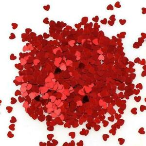 Heart Table Confetti Wedding Ruby Anniversary Engagement Party NW AU I5O2