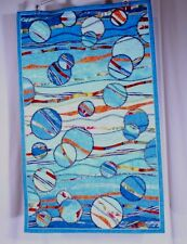 Quilt Quilted Mixed Media Wall Art Handmade Stitched Healing Bubbles III