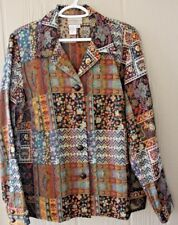 COLDWATER CREEK 1X Multi Color Tapestry Jacket NWOT