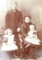 Large 1800s Victorian Cabinet Card Photograph by A & G Taylor of Bradford