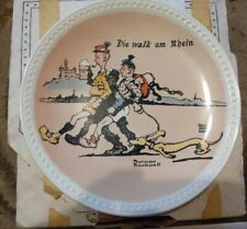 """Die Walk am Rhein"" Collector Plate by Norman Rockwell with Certificate of Auth"