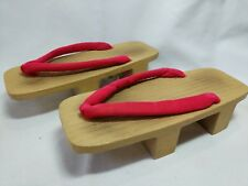 Oriental Traditional Wooden Sandals 2 Heels Lightweight