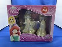 Paint Your Own Statue Disney Princess Rapunzel & Ariel with Paint & Brushes ~new