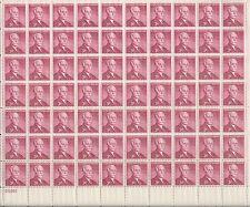 Vintage Andrew W. Mellon U.S. Postage Stamp Sheet Scott #1072 FV3c