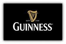 Guinness Beer Logo Car Bumper Sticker Decal - 9'', 12'' or 14''