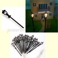 20Pcs 6V 1:100 HO Mini Single Head Light Model Garden Path Street Lamppost Lamps