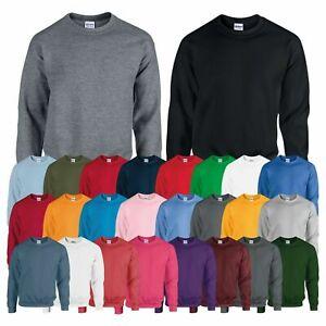 Gildan Heavy Blend Sweatshirt Plain Casual Crew Neck Pullover Jumper Sweat TOP