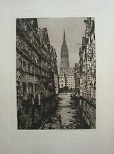 "Luigi Kasimir ""Hamburg, Steckelhörnfleet, 1908"""