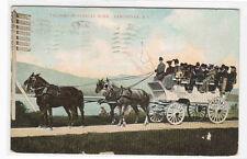 Tallyho Touring Coach Horse Team Stanley Park Vancouver BC Canada postcard