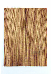 Electric guitar top bookmatched zebrawood, droptop 7 mm