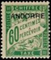 """ANDORRE FRANCAIS STAMP TIMBRE TAXE N° 5 """" TIMBRE DE 1893 60c VERT """" NEUF xx LUXE"""
