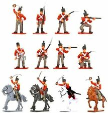 NAPOLEONIC WAR BRITISH INFANTRY CAVALRY WATERLOO 16 PAINTED PLASTIC  SOLDIERS