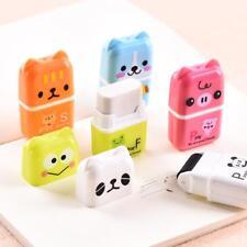 10 Pcs Cute Rolling Eraser Cartoon Roller Erasers Children School Stationery