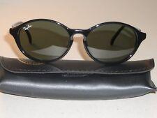 VINTAGE B&L RAY BAN W1945 SLEEK SHINY BLACK G15 SIDE STREET CATS SUNGLASSES NEW