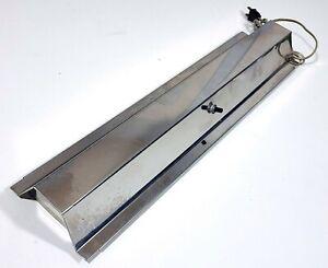 VINTAGE METAFRAME AQUARIUM HOOD LIGHT FOR 10 GALLON FISH TANK 1960s SILVER