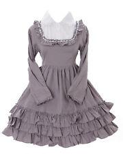 JL-564-2 Grau Gothic Lolita Japan Rüschen Kleid Kostüm dress Cosplay Babydoll