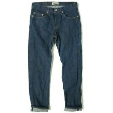 """Naked And Famous Mens Jeans Size 33 x 33 Blue Denim """"Weird Guy"""" Selvedge Denim"""