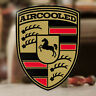 2 x pieces Aircooled sticker decal german car vw volkswagen bug bus beetle 4.75""