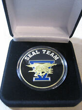 US NAVY SEAL TEAM FIVE Challenge Coin w/ Presentation Box