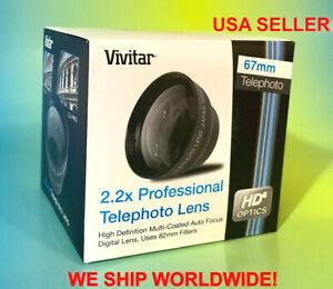 HD 2.2x TELEPHOTO ZOOM LENS 67mm VIVITAR to Camera CANON EOS REBEL 2.5 2.0 TELE