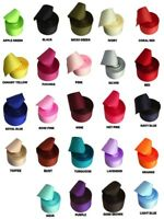 """1-1/2"""" Solid Soft GROSGRAIN Rolled up Ribbon 5 yards 100% Polyester Choose Color"""