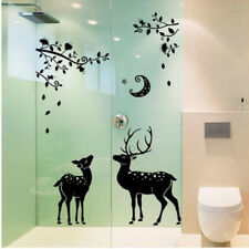 Black Deers Wall Sticker For Bedroom Fridge Home Decor Removable New Creative