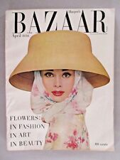 Harper's Bazaar - April, 1956 ~~ Audrey Hepburn cover