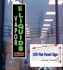 LED sign Vapor E Liquids sold here window sign 48x12 New Led flat panel design