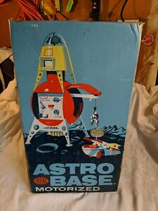 Vintage Ideal Astro Base Space Toy Play Set w/Box Spaceman Car Astronaut Rocket