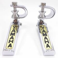 Yamaha Folding Footrest Foot Rest Peg Chrome Gold Collapsible Adjustabe Pair Set