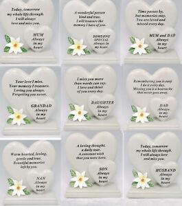 Double Heart Memorial Flower Garden Ornament Graveside Ornament Tribute Plaque