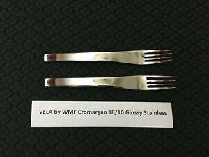 Lot of 2 Vela WMF Cromargan Glossy 18/10 Stainless Steel Salad Forks Free Ship