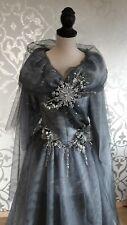 Kleid ice queen Eiskönigin Prinzessin Kostüm ballkleid handmade